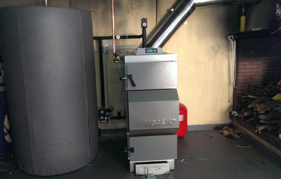 Caldera de leña 40 kW