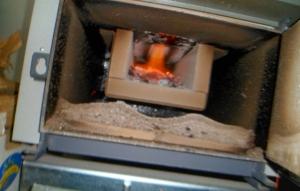 cámara combustión caldera leña