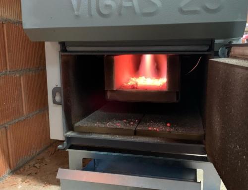 Caldera de biomasa en Barcelona