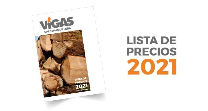 LISTA PRECIOS CALDERAS LEÑA
